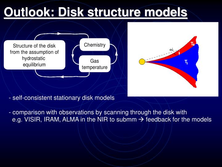 Outlook: Disk structure models