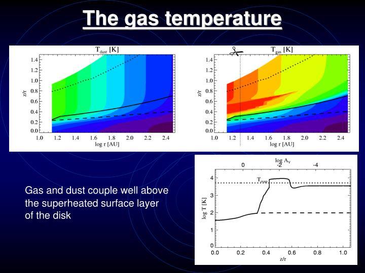 The gas temperature