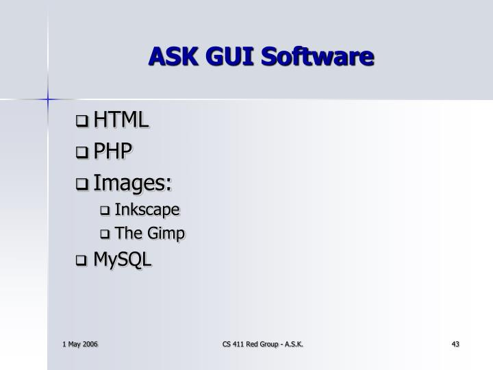 ASK GUI Software