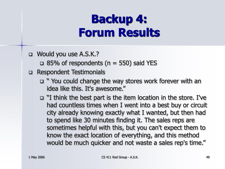 Backup 4: