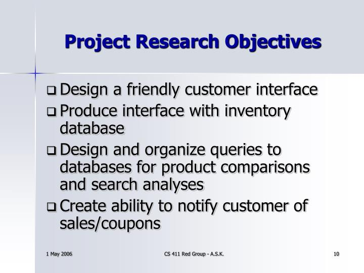 Project Research Objectives