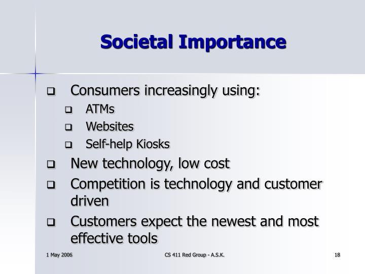 Societal Importance