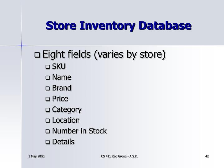 Store Inventory Database