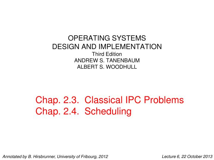 Operating systems design and implementation third edition andrew s tanenbaum albert s woodhull