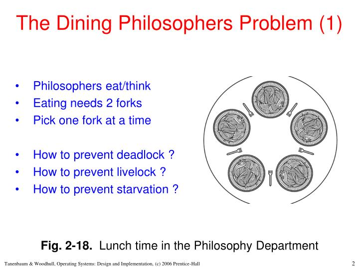 The dining philosophers problem 1