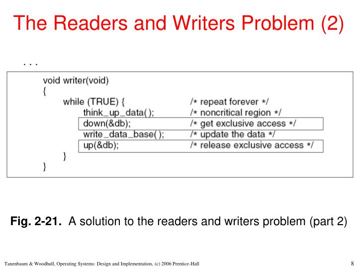 The Readers and Writers Problem (2)