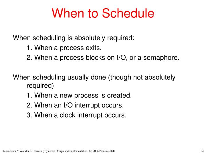 When to Schedule
