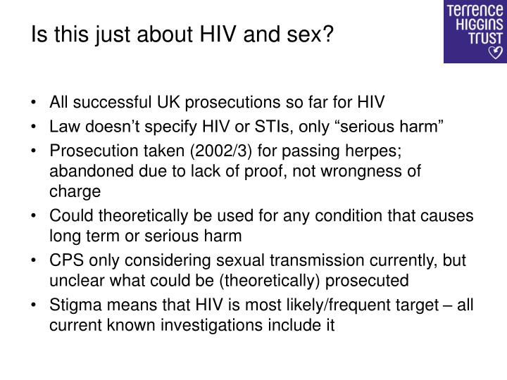 Is this just about HIV and sex?
