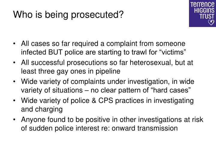 Who is being prosecuted?