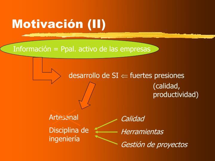 Motivación (II)