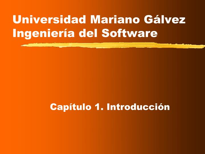 Universidad mariano g lvez ingenier a del software