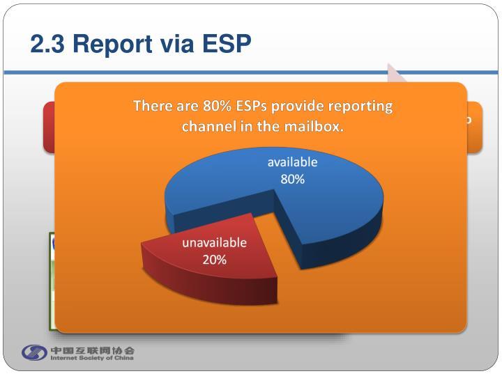2.3 Report via ESP