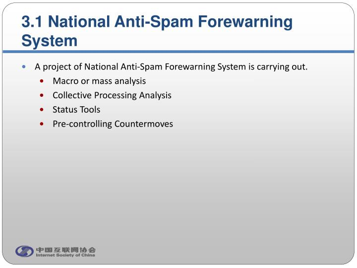 3.1 National Anti-Spam Forewarning System