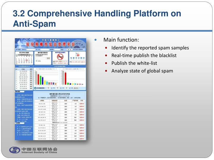 3.2 Comprehensive Handling Platform on Anti-Spam
