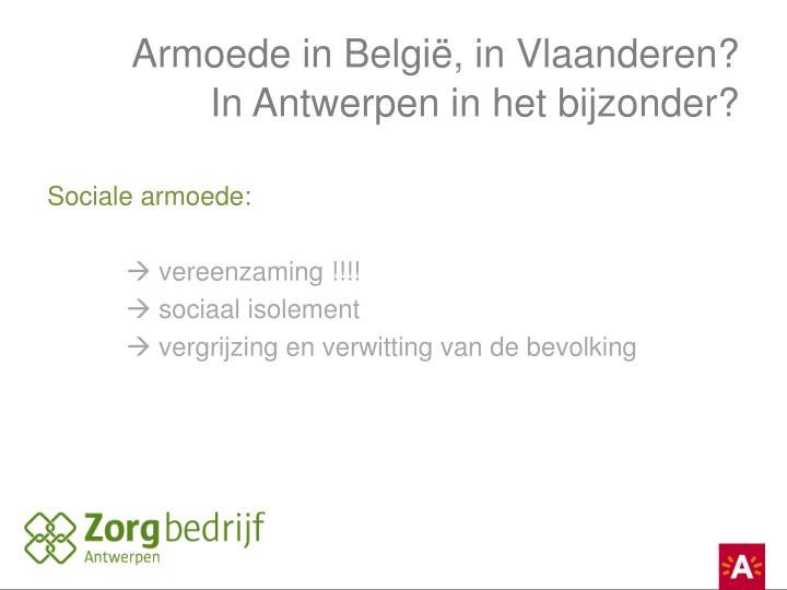 Armoede in België, in Vlaanderen?