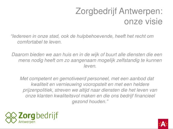 Zorgbedrijf Antwerpen: