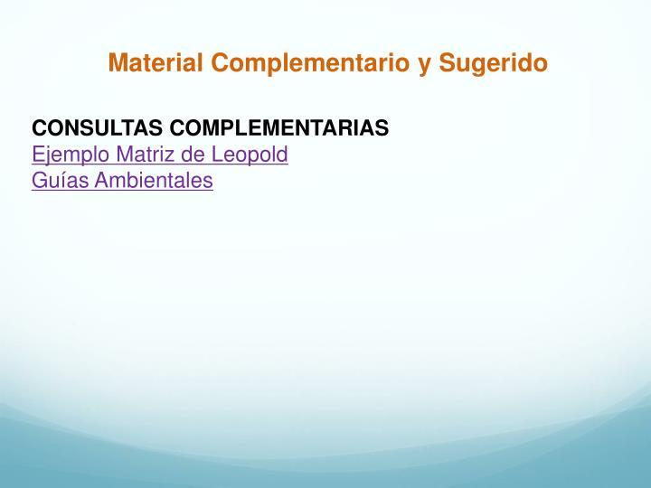 Material Complementario y Sugerido