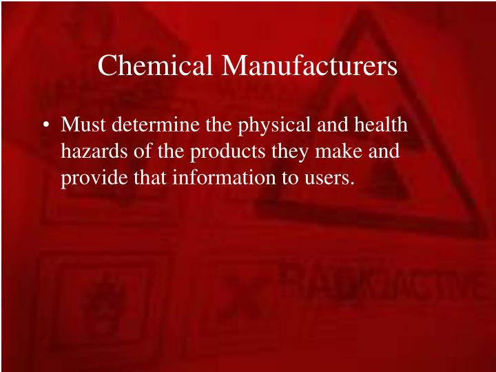 Chemical Manufacturers