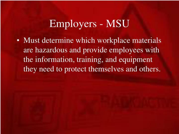 Employers - MSU