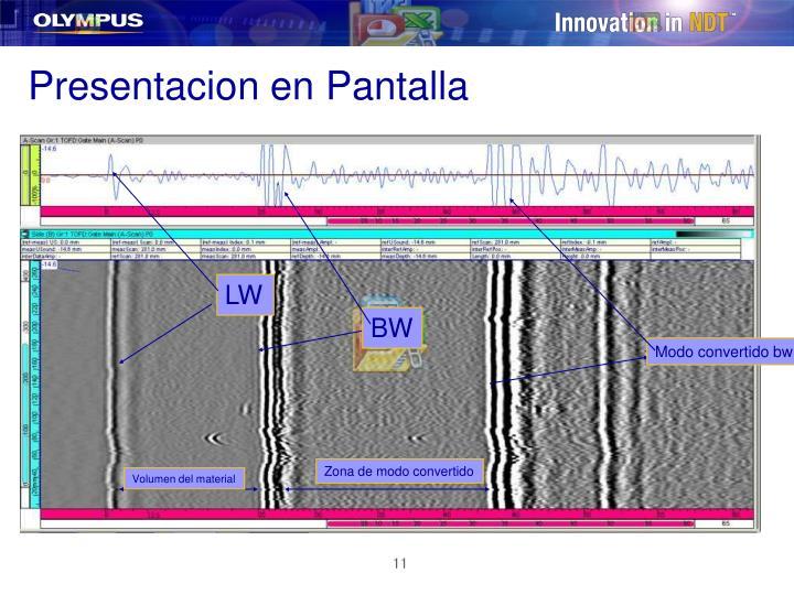 Presentacion en Pantalla