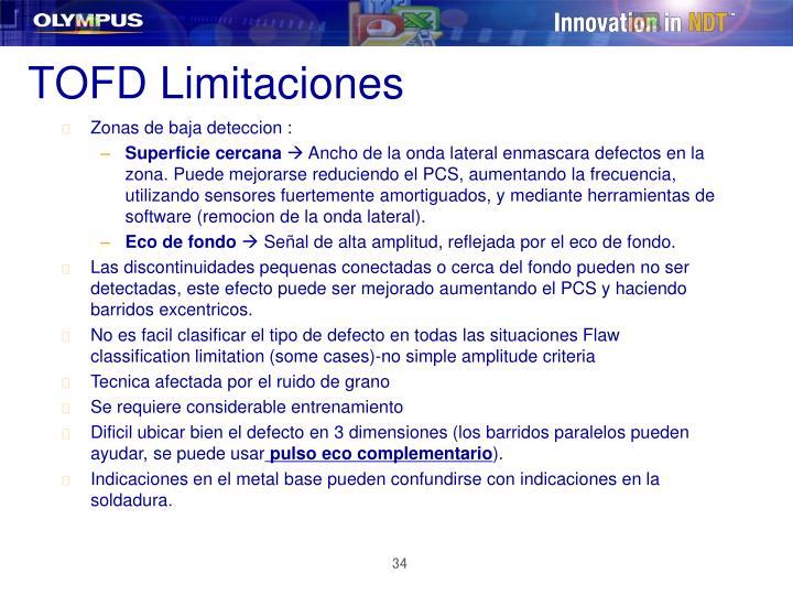 TOFD Limitaciones