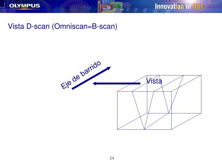 Vista D-scan (Omniscan=B-scan)