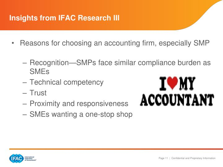 Insights from IFAC Research III