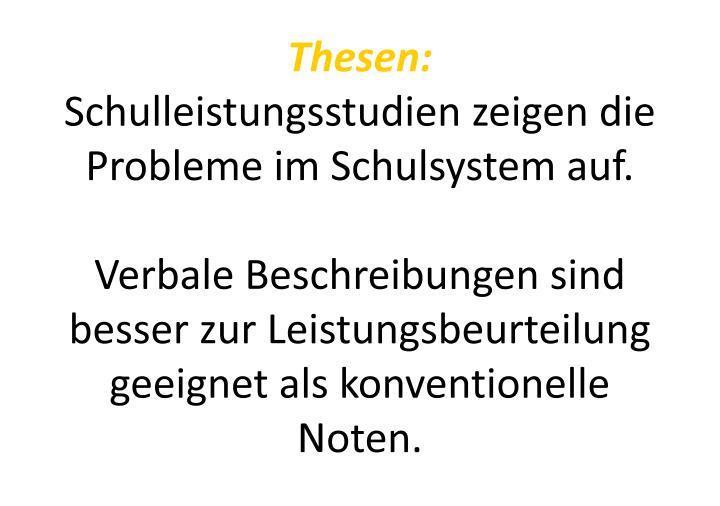 Thesen: