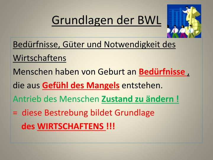 Grundlagen der BWL