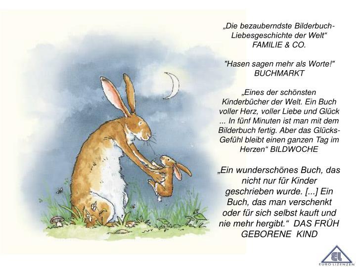 """""""Die bezauberndste Bilderbuch-Liebesgeschichte der Welt"""" FAMILIE & CO."""