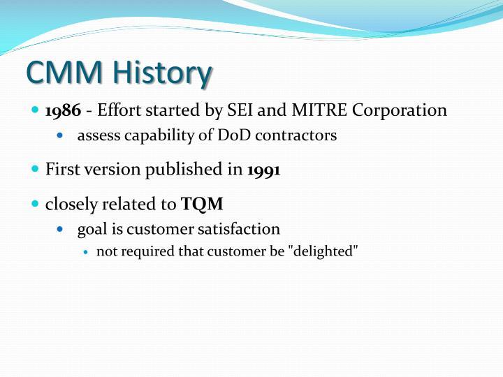 CMM History