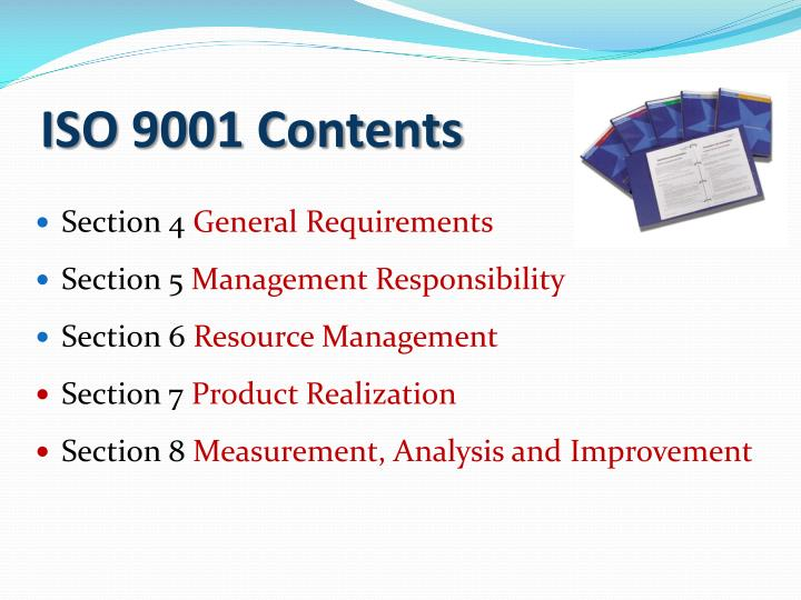 ISO 9001 Contents