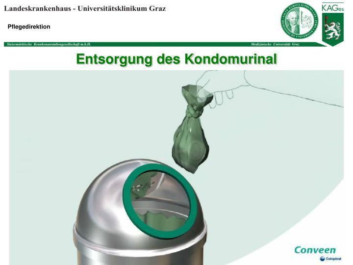 Entsorgung des Kondomurinal