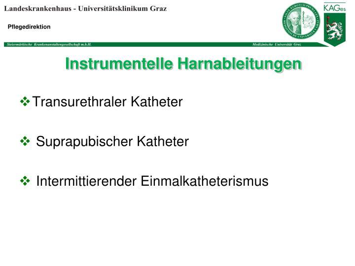 Instrumentelle Harnableitungen