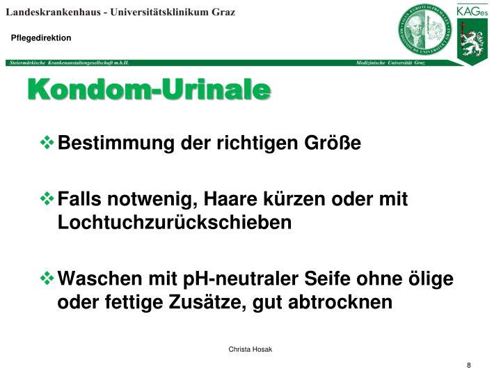 Kondom-Urinale