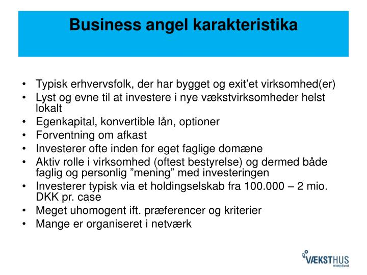 Business angel karakteristika