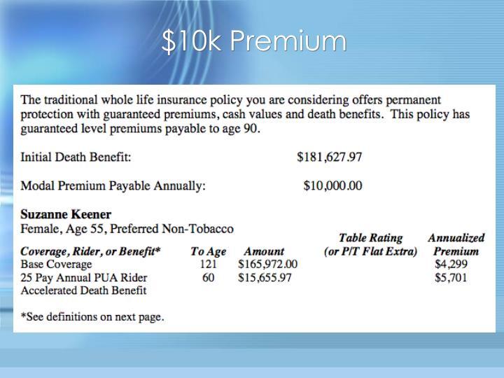 $10k Premium