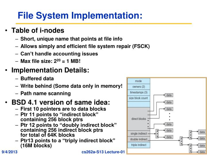 File System Implementation: