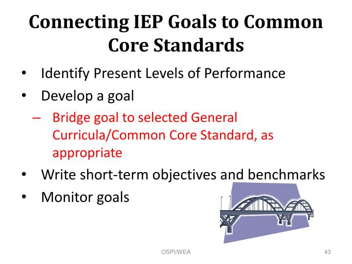 Connecting IEP Goals to Common Core