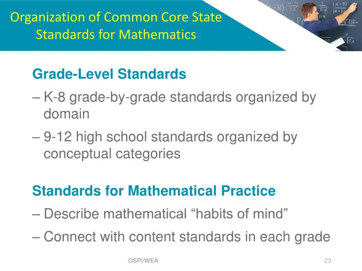 Organization of Common Core State