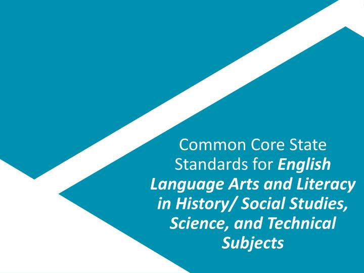 Common Core State Standards for