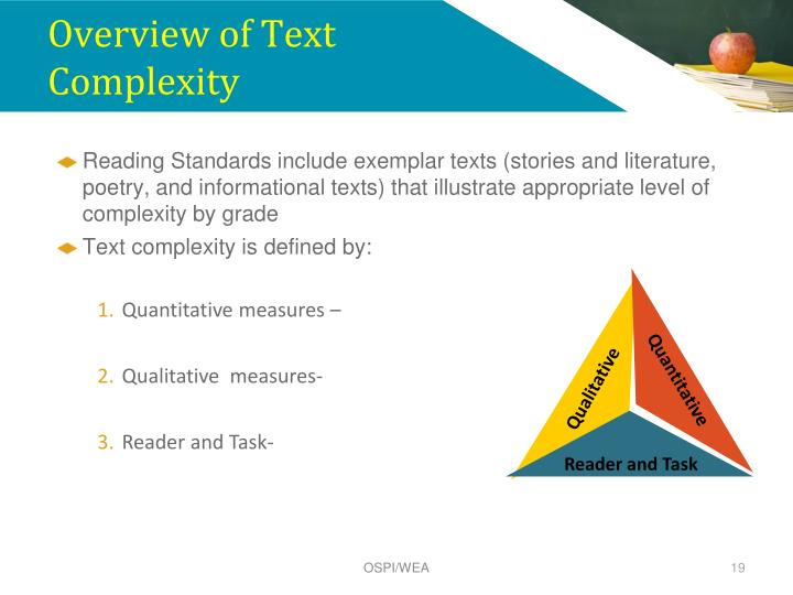 Overview of Text Complexity