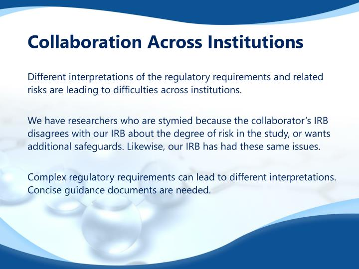 Collaboration Across Institutions