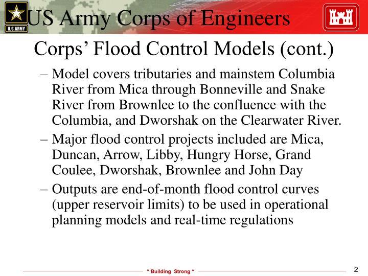 Corps' Flood Control Models (cont.)