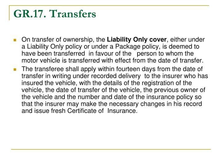GR.17. Transfers