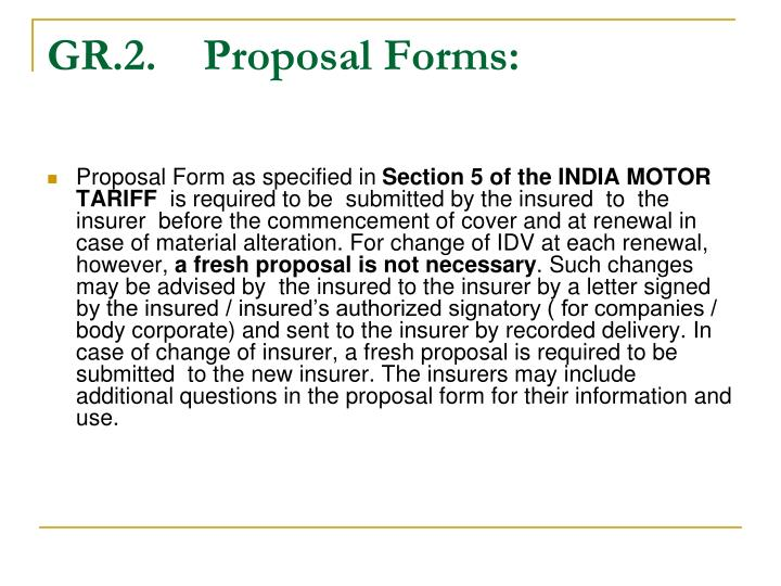 GR.2.Proposal Forms:
