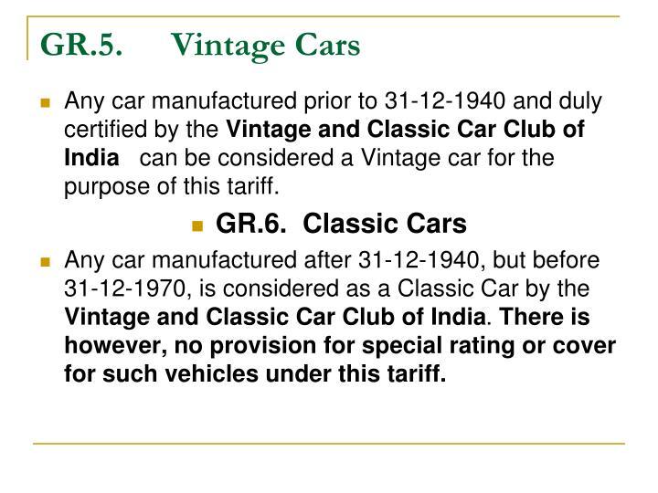 GR.5.Vintage Cars