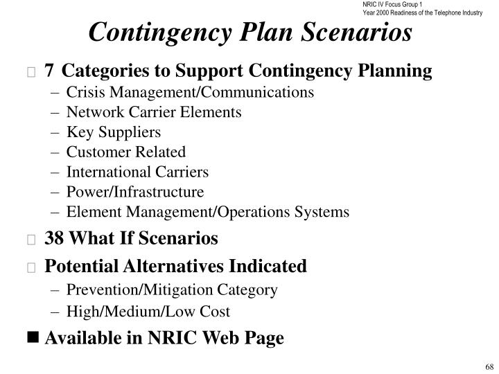 Contingency Plan Scenarios