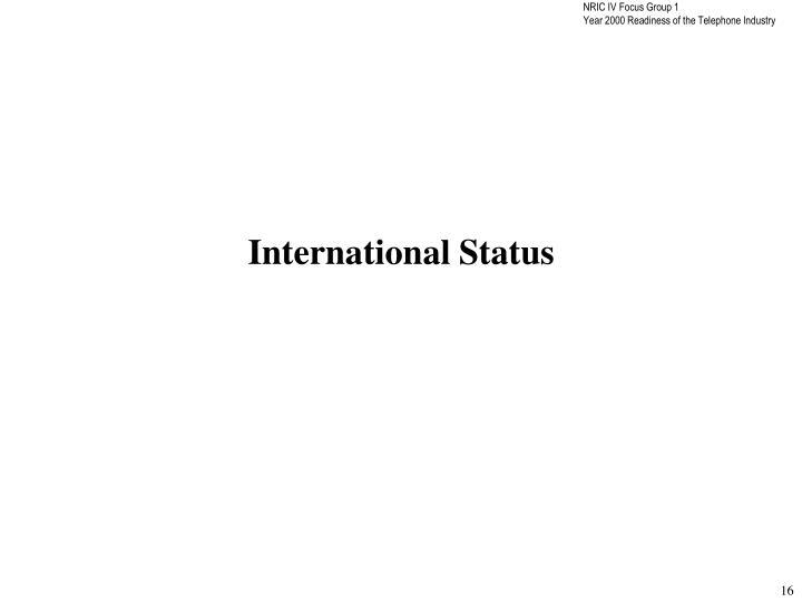 International Status