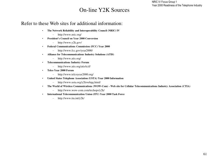On-line Y2K Sources